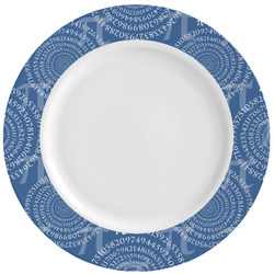 PI Ceramic Dinner Plates (Set of 4) (Personalized)