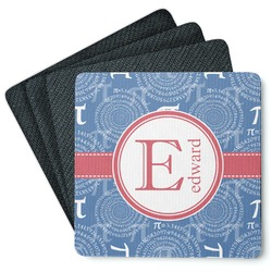 PI 4 Square Coasters - Rubber Backed (Personalized)