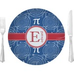 "PI Glass Lunch / Dinner Plates 10"" - Single or Set (Personalized)"