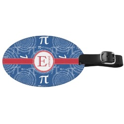 PI Genuine Leather Oval Luggage Tag (Personalized)