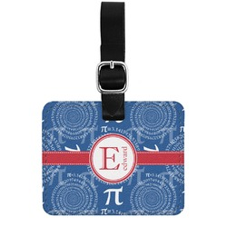 PI Genuine Leather Luggage Tag w/ Name and Initial