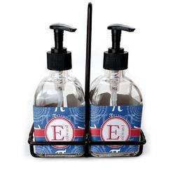 PI Soap & Lotion Dispenser Set (Glass) (Personalized)