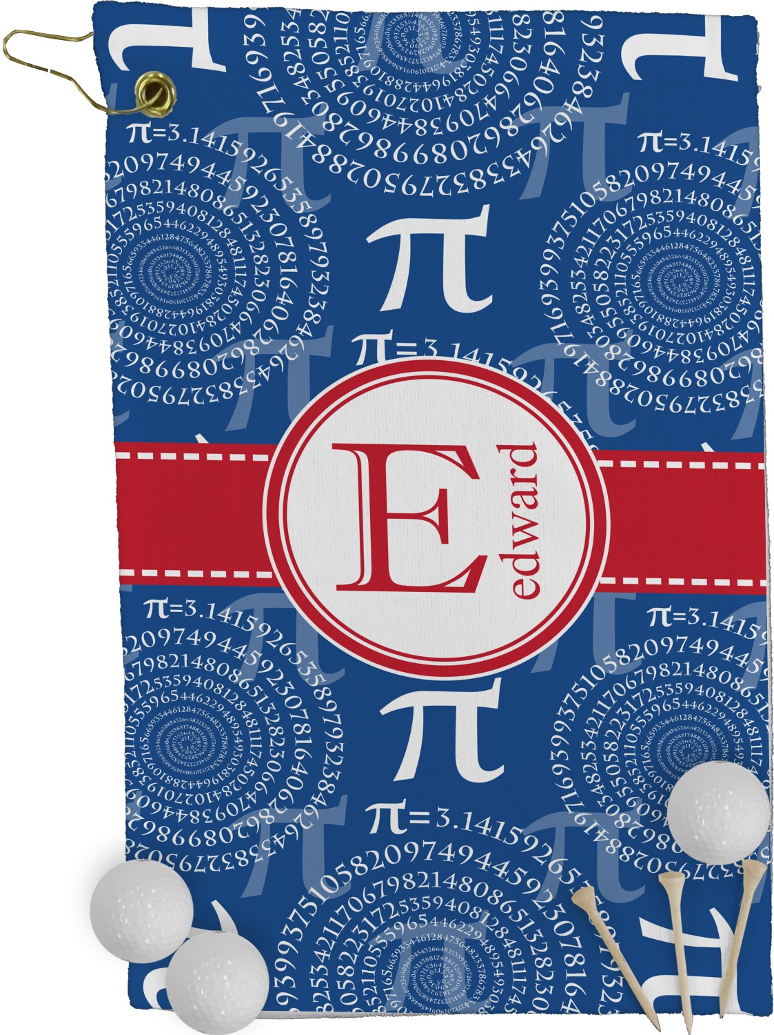 Pi golf towel full print personalized youcustomizeit for Full name of pi