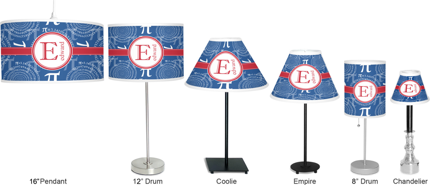 Pi 7 drum lamp shade linen personalized youcustomizeit for Full name of pi
