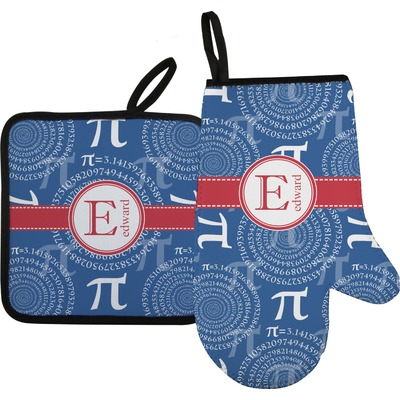 PI Right Oven Mitt & Pot Holder Set w/ Name and Initial