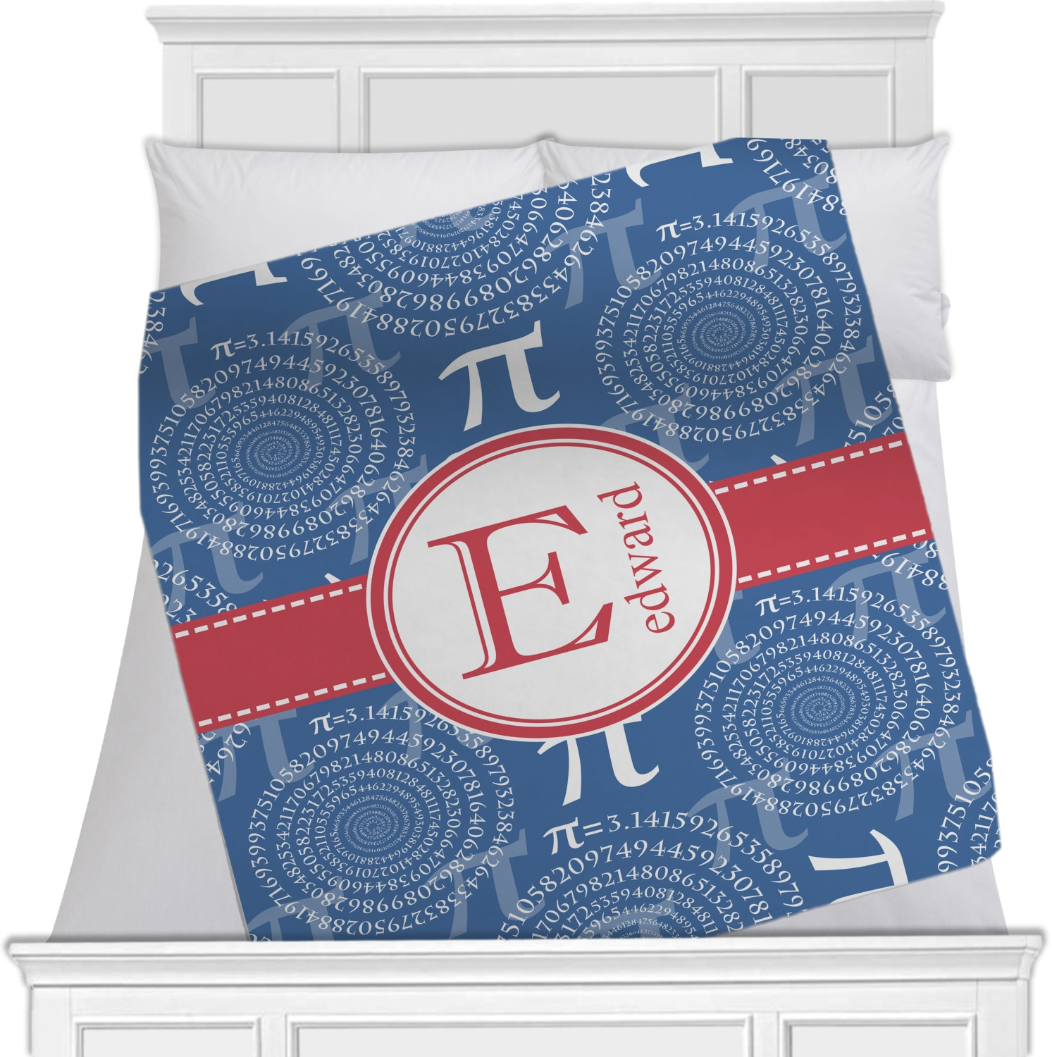 Pi fleece blanket twin full 80 x60 double sided for Full name of pi