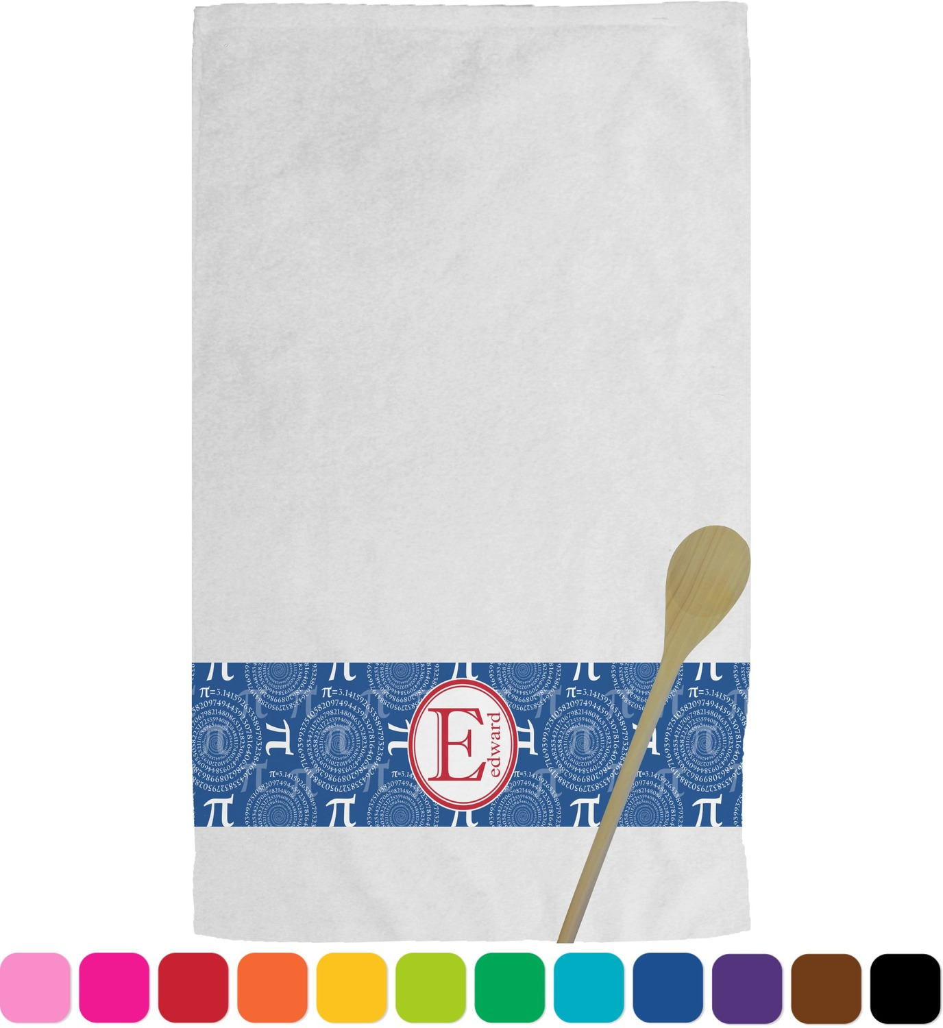 Pi kitchen towel personalized youcustomizeit for Full name of pi