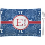 PI Glass Rectangular Appetizer / Dessert Plate - Single or Set (Personalized)