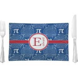 PI Rectangular Glass Lunch / Dinner Plate - Single or Set (Personalized)