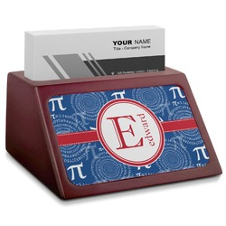 PI Red Mahogany Business Card Holder (Personalized)