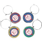 PI Wine Charms (Set of 4) (Personalized)