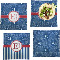 PI Set of 4 - Square Dinner Plates (Personalized)