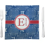 """PI Glass Square Lunch / Dinner Plate 9.5"""" - Single or Set of 4 (Personalized)"""