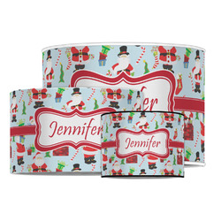 Santa and Presents Drum Lamp Shade (Personalized)