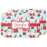Santa and Presents Dish Drying Mat w/ Name or Text