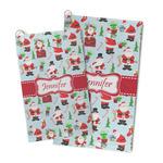 Santa and Presents Microfiber Golf Towel (Personalized)