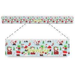 """Santa and Presents Plastic Ruler - 12"""" (Personalized)"""