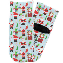 Santa and Presents Toddler Ankle Socks (Personalized)