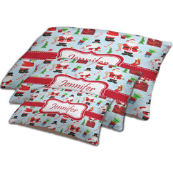Santa and Presents Dog Bed w/ Name or Text
