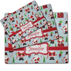 Santa and Presents Dog Food Mat w/ Name or Text