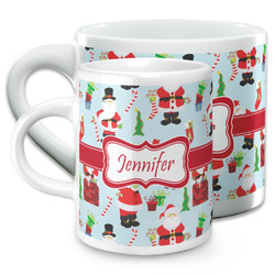 Santa and Presents Espresso Cups (Personalized)