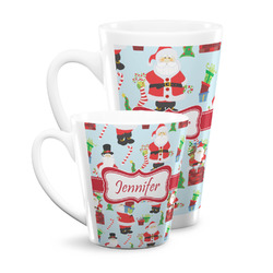 Santa and presents Latte Mug (Personalized)