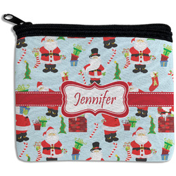 Santa and Presents Rectangular Coin Purse w/ Name or Text