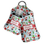 Santa and presents Hand Sanitizer & Keychain Holder (Personalized)