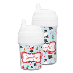 Santas w/ Presents Sippy Cup (Personalized)