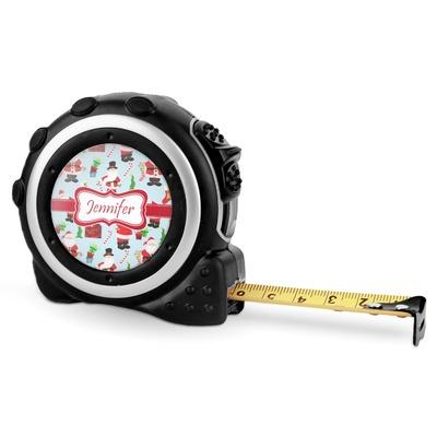 Santas w/ Presents Tape Measure - 16 Ft (Personalized)