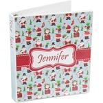 Santas w/ Presents 3-Ring Binder (Personalized)