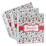 Santa and Presents 3-Ring Binder (Personalized)