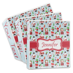 Santa and Presents 3-Ring Binder (Personalized)