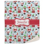 Santa and Presents Sherpa Throw Blanket (Personalized)