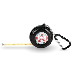 Santa and Presents Pocket Tape Measure - 6 Ft w/ Carabiner Clip (Personalized)