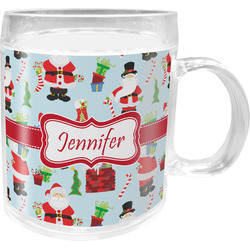 Santas w/ Presents Acrylic Kids Mug (Personalized)
