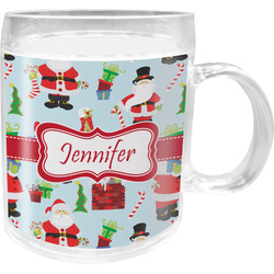 Santa and Presents Acrylic Kids Mug (Personalized)