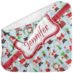 Santas w/ Presents Baby Hooded Towel (Personalized)
