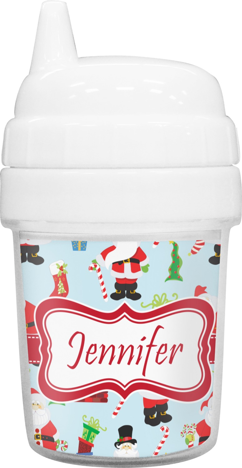 66cd6e32b41 Santas w/ Presents Baby Sippy Cup (Personalized)