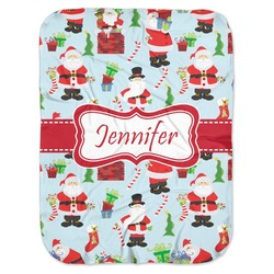 Santas w/ Presents Baby Swaddling Blanket (Personalized)