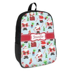 Santas w/ Presents Kids Backpack (Personalized)