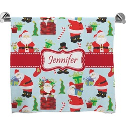 Santa and Presents Bath Towel w/ Name or Text