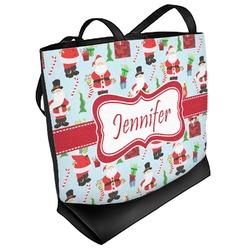 Santas w/ Presents Beach Tote Bag (Personalized)