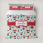Santa and Presents Duvet Cover (Personalized)
