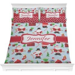 Santas w/ Presents Comforter Set (Personalized)