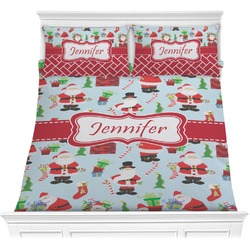 Santas w/ Presents Comforter Set (Personalized)