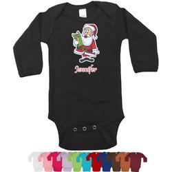 Santas w/ Presents Bodysuit - Black (Personalized)