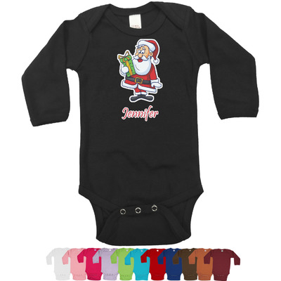 Santas w/ Presents Bodysuit - Long Sleeves (Personalized)