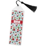 Santa and Presents Book Mark w/Tassel w/ Name or Text