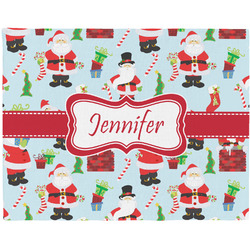 Santas w/ Presents Placemat (Fabric) (Personalized)